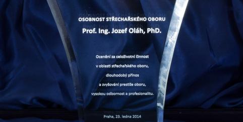 Předávání ocenění panu Prof. Ing. Jozefu Oláhovi, Ph.D.