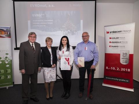 Vítězové soutěží Střechařský inzerát 2017 a Pour Féliciter 2018