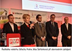 Ředitelka veletrhu Střechy Praha Jitka Šefránková při slavnostním zahájení