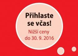 Využijte nižší cenu výstavní plochy a přihlaste se do 30. 9. 2016!